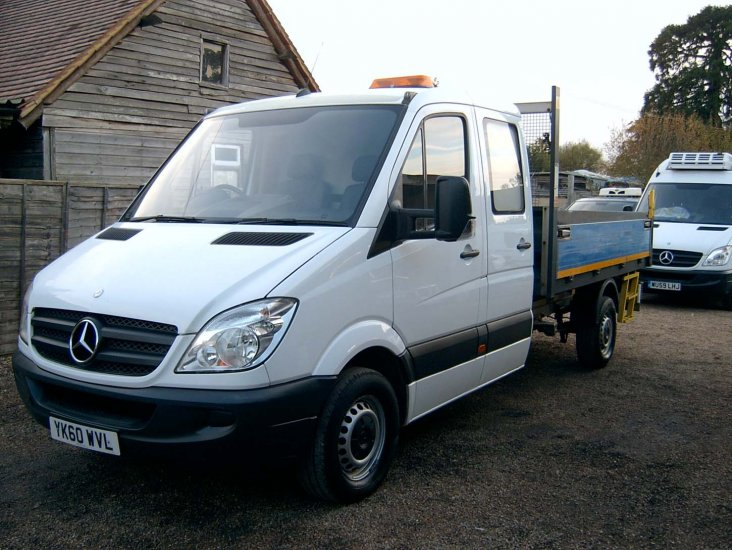 Mercedes Sprinter 313 CDI Double Cab LWB Tipper Euro 5 - Click Image to Close