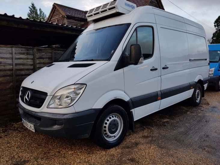Mercedes Benz 311 CDi Sprinter MWB Refrigerated Fridge Freezer - Click Image to Close