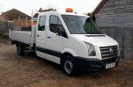 VW Crafter 35 2.5 TDI 109 LWB Double Cab Tipper